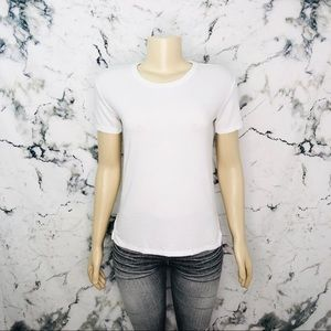 Aritzia Wilfred Free Basic White Crewneck T-Shirt